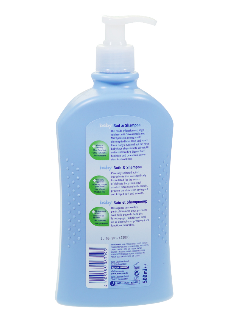 Sanosan Baby bath & shampoo 500ml_Shower_BODY_Hong Kong Beautiful ...